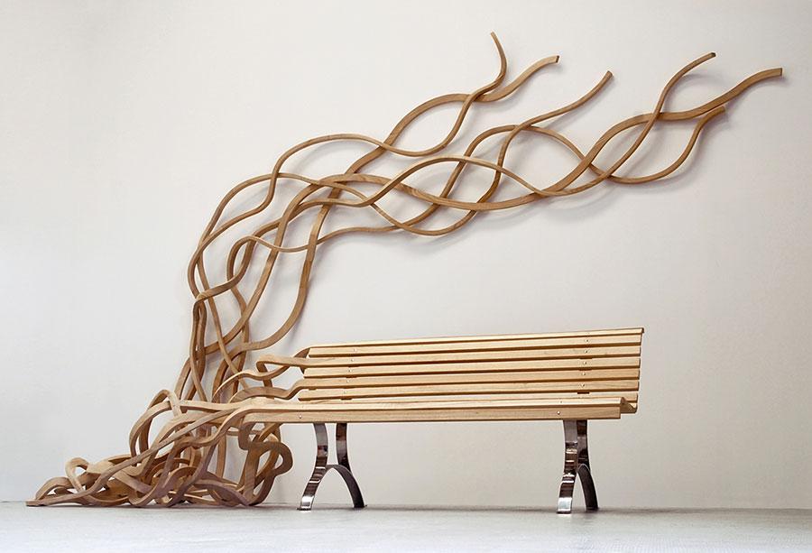 Spettacolari panche di design in legno n.15