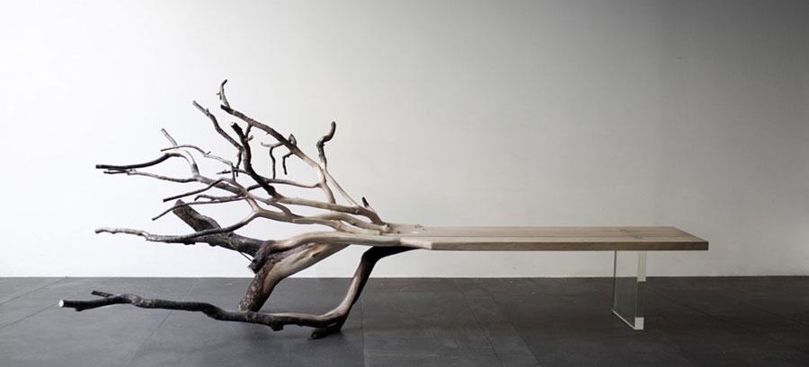 Spettacolari panche di design in legno n.16