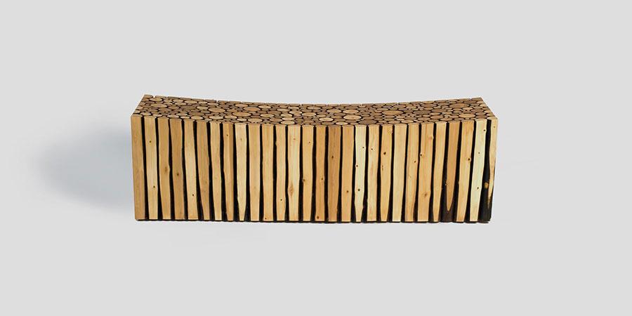 Spettacolari panche di design in legno n.17