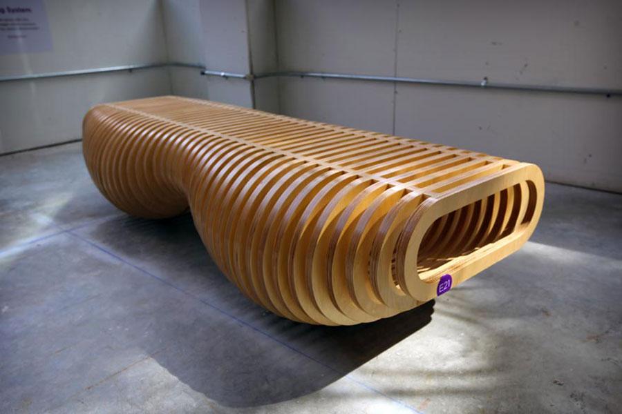 Spettacolari panche di design in legno n.18