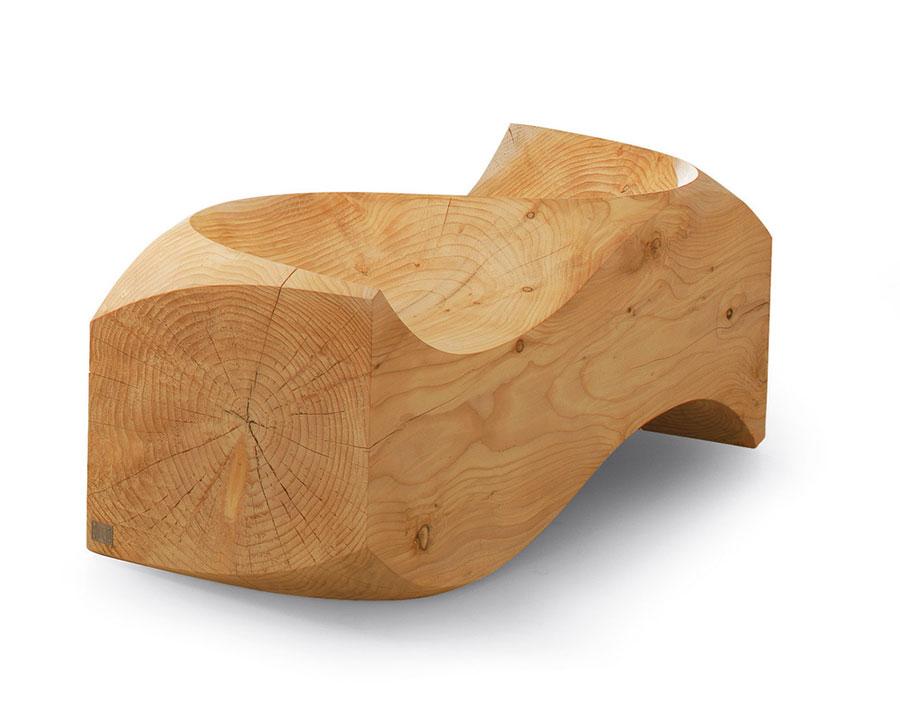 Spettacolari panche di design in legno n.19