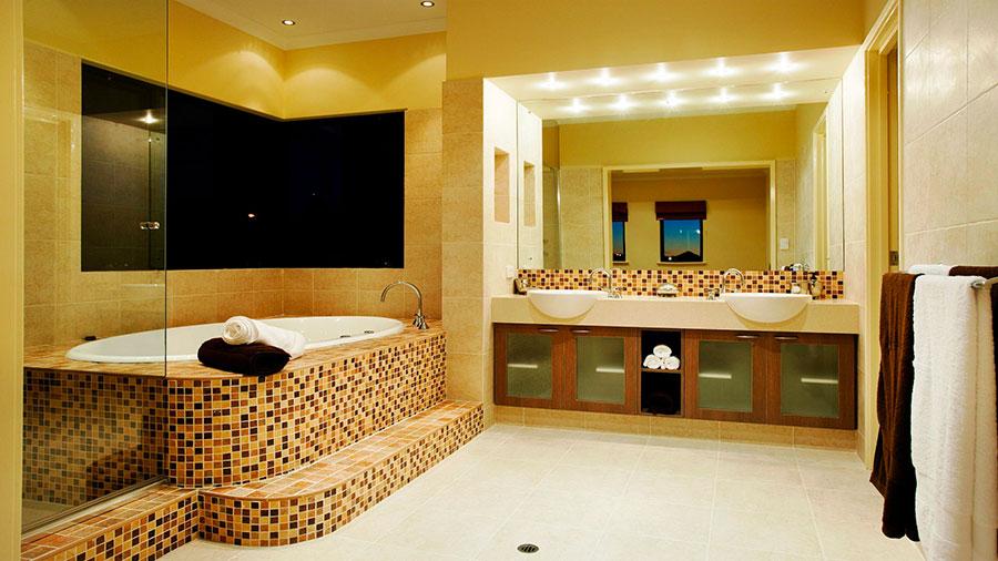 Piastrelle a mosaico per il bagno n.01
