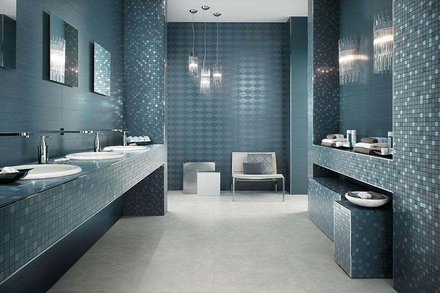 Famoso Bagno Azzurro Moderno ~ Ispirazione Interior Design & Idee Mobili CO34