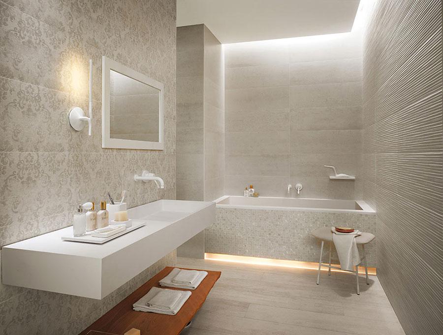 Bagno Moderno Mosaico ~ Idea Creativa Della Casa e Dell\'interior Design