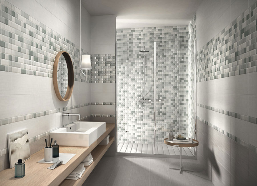 Piastrelle a mosaico per il bagno eccone 20 bellissimi - Come rivestire il bagno ...