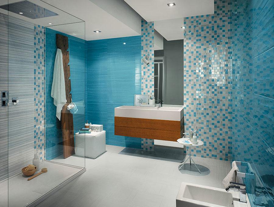 Piastrelle a mosaico per il bagno n.13