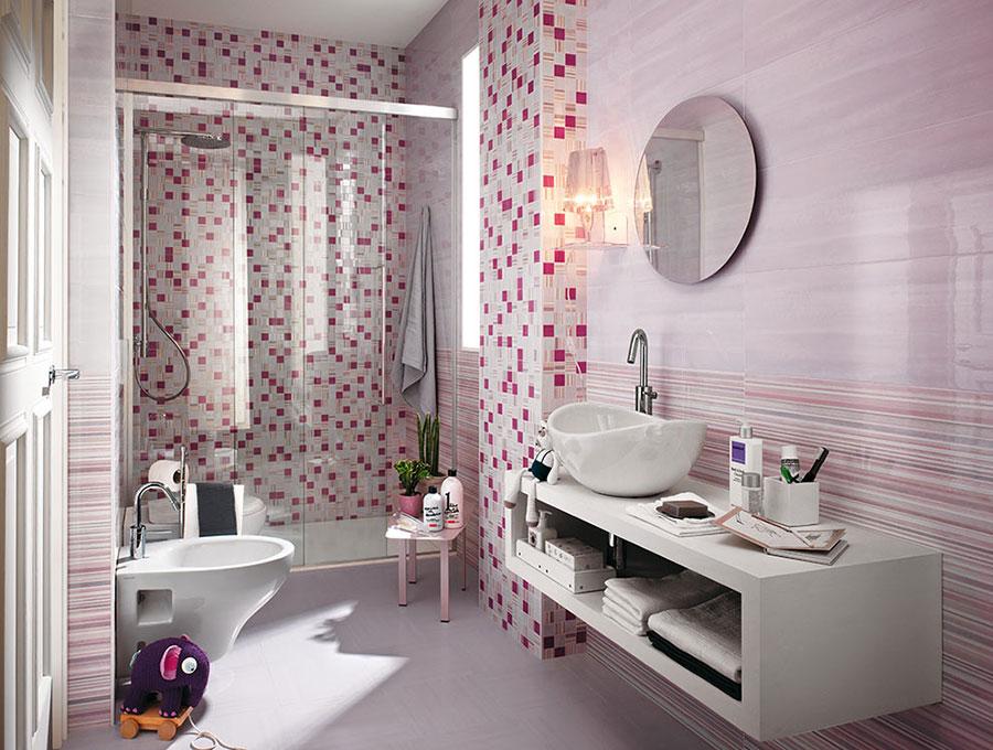 Piastrelle a mosaico per il bagno n.14