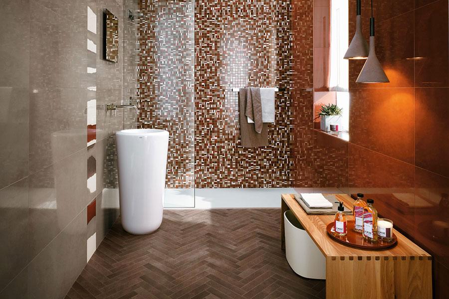 Piastrelle a mosaico per il bagno n.15