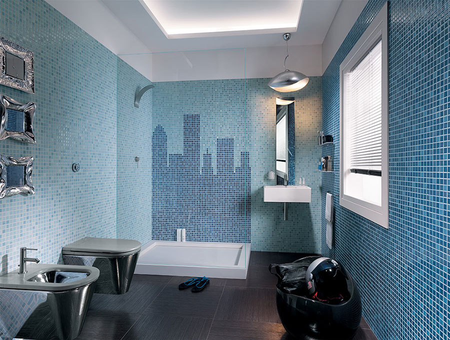 Piastrelle a mosaico per il bagno n.17