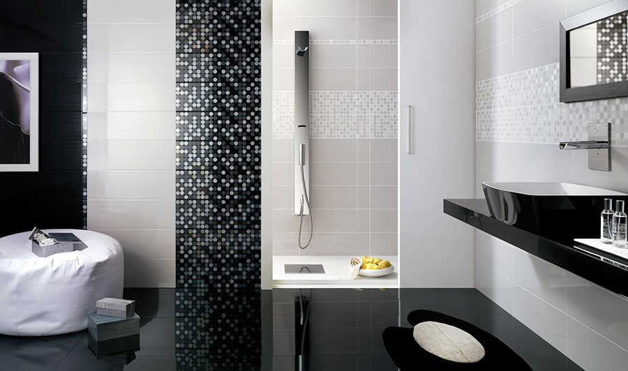 Piastrelle a mosaico per il bagno eccone 20 bellissimi esempi - Bagni piastrelle moderne ...