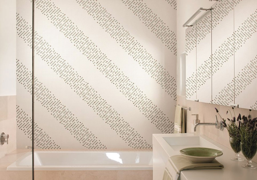 Piastrelle a mosaico per il bagno n.21