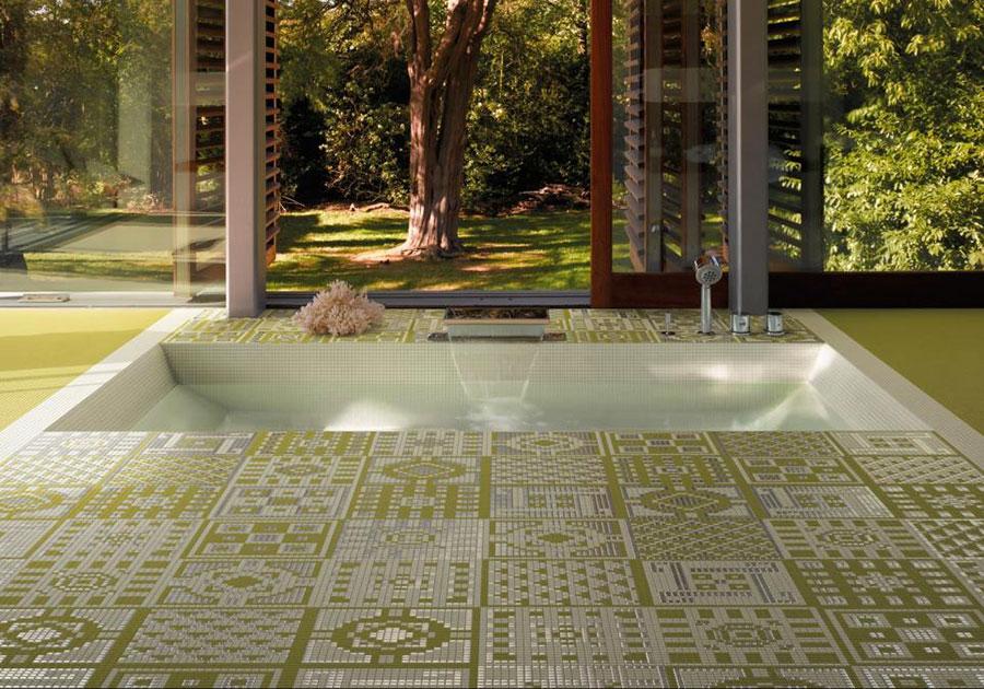 Piastrelle a mosaico per il bagno n.23