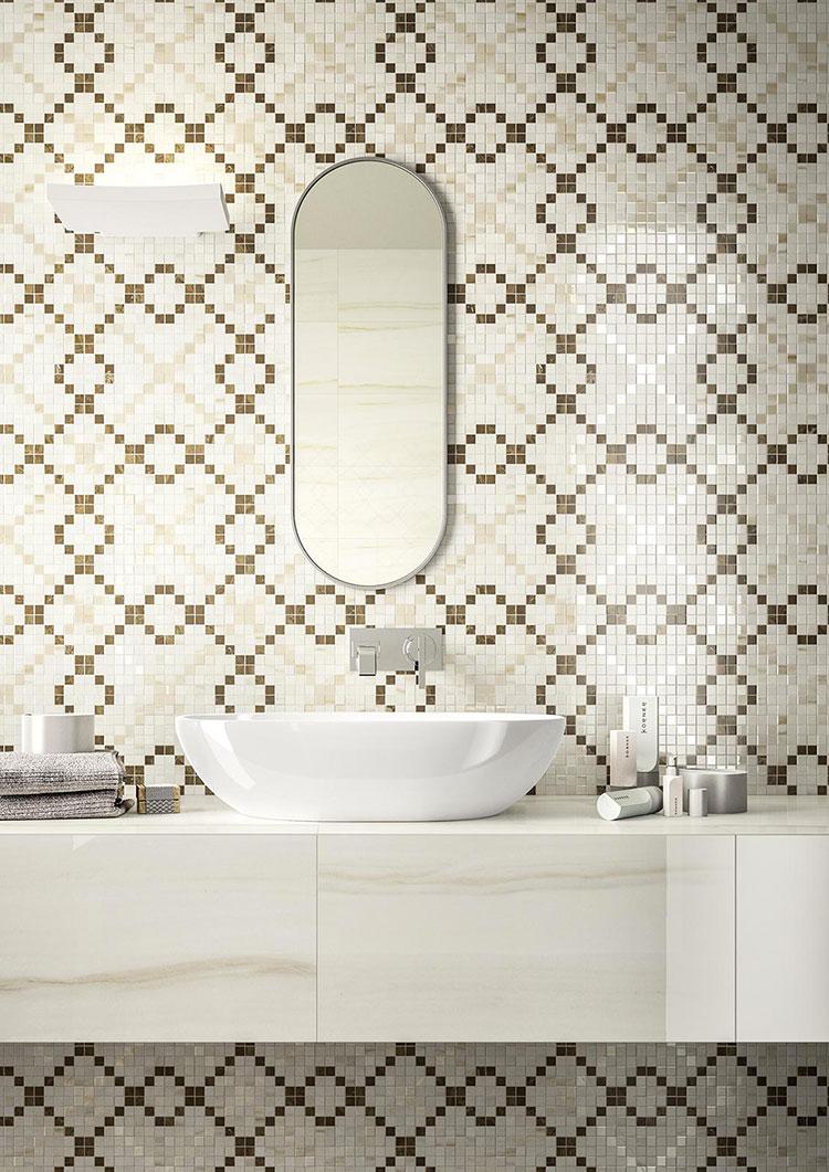Piastrelle a mosaico per il bagno n.25