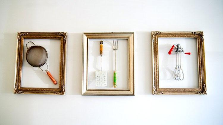 Idee creative per riciclare vecchi utensili della cucina - Quadri da appendere in cucina ...