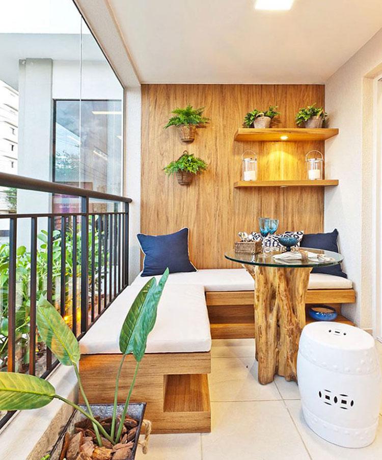 Arredamento per balconi semplici idee per piccoli spazi for Immagini di arredamento casa