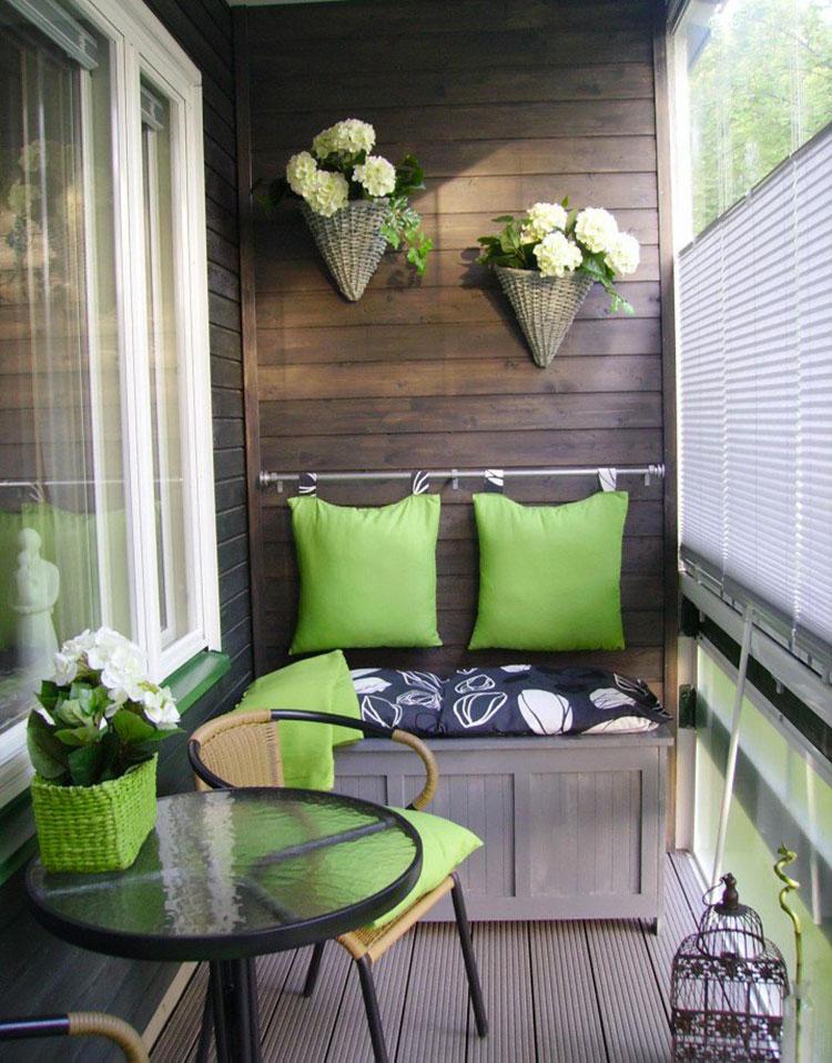 Arredamento per balconi semplici idee per piccoli spazi for Arredare terrazzi piccoli