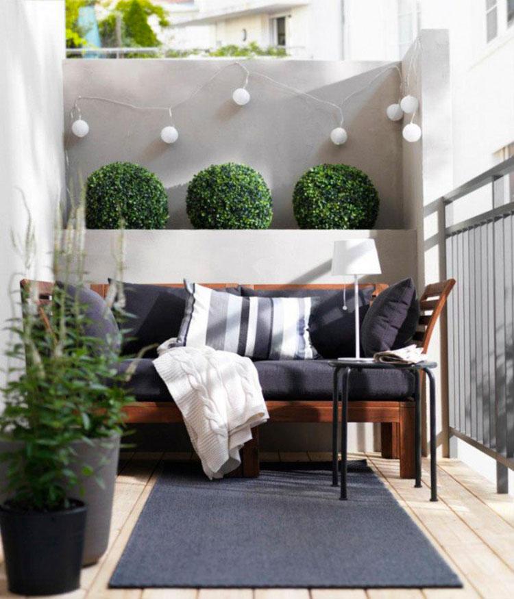 Idee per arredare piccoli balconi n.10