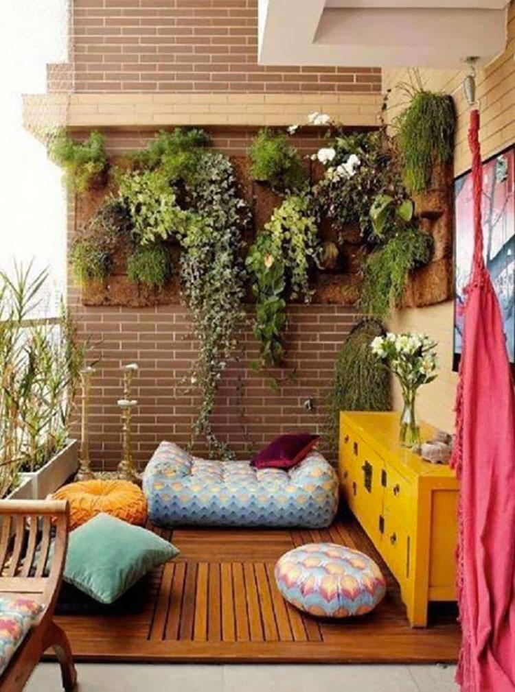 Idee per arredare piccoli balconi n.13