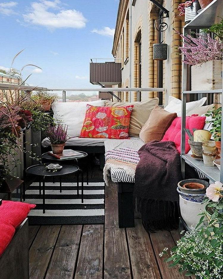 Idee per arredare piccoli balconi n.17