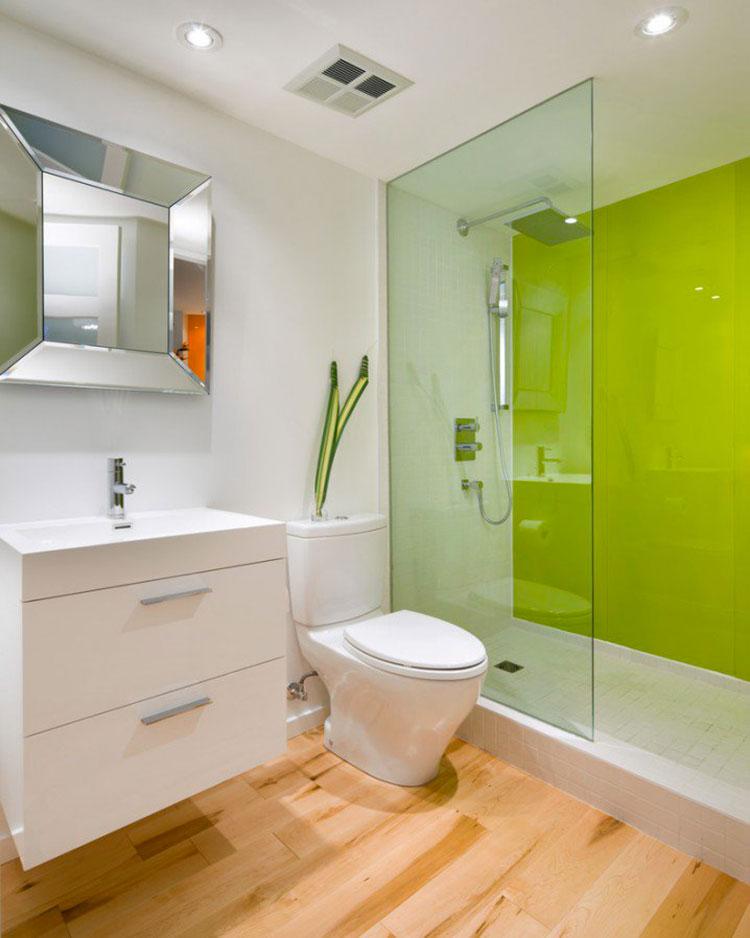 Come arredare un bagno con il verde lime n.01