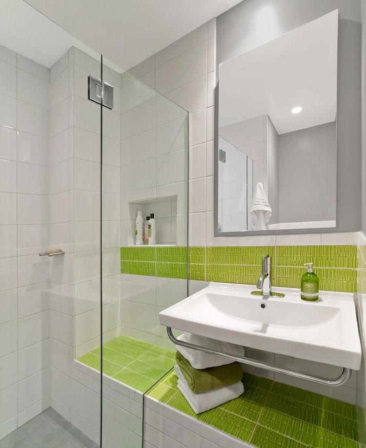 Come arredare un bagno con il verde lime n.02
