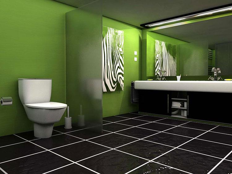 Come arredare un bagno con il verde lime n.06