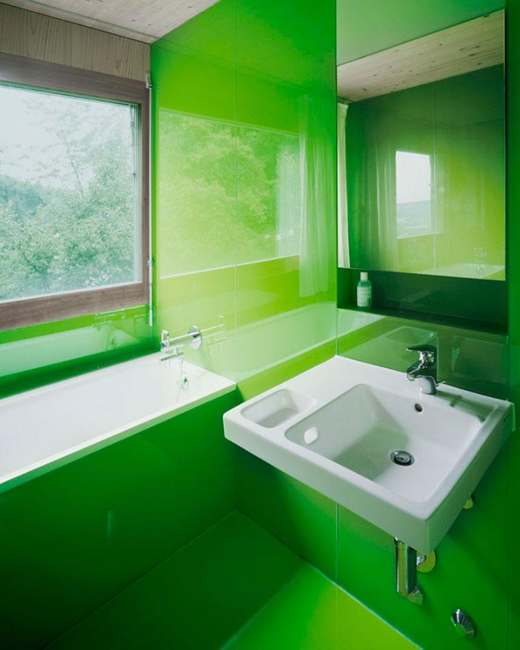 Come arredare un bagno con il verde lime n.08