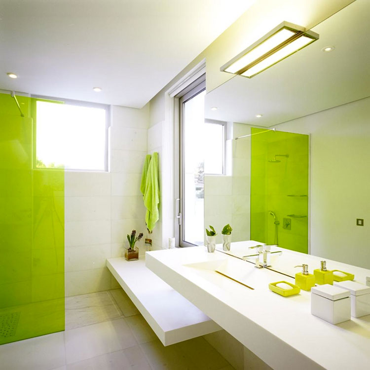 lime green bathroom ideas 15 bagni verde lime dal design moderno mondodesign it 20378