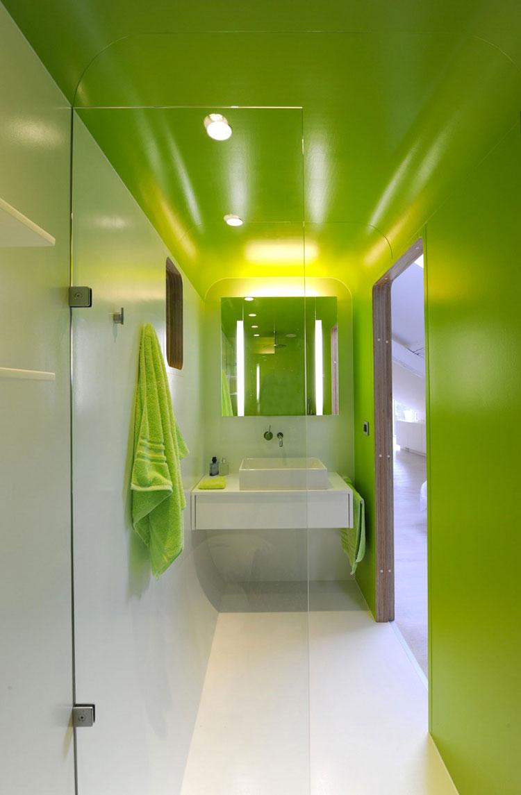 Come arredare un bagno con il verde lime n.11