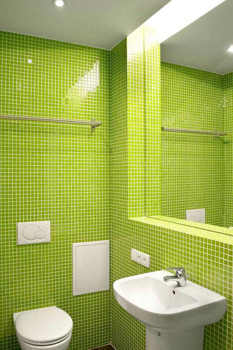Come arredare un bagno con il verde lime n.13