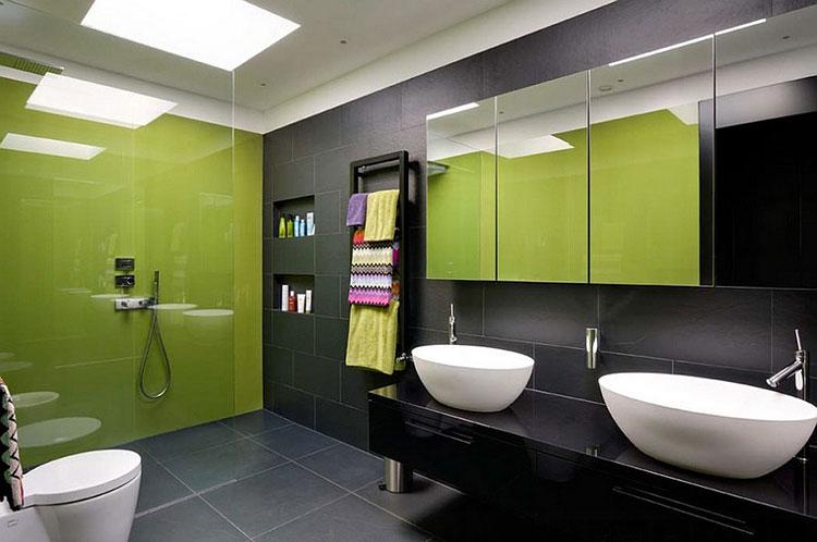 Come arredare un bagno con il verde lime n.14