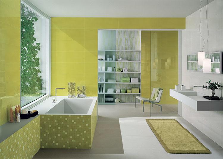 Come arredare un bagno con il verde lime n.15