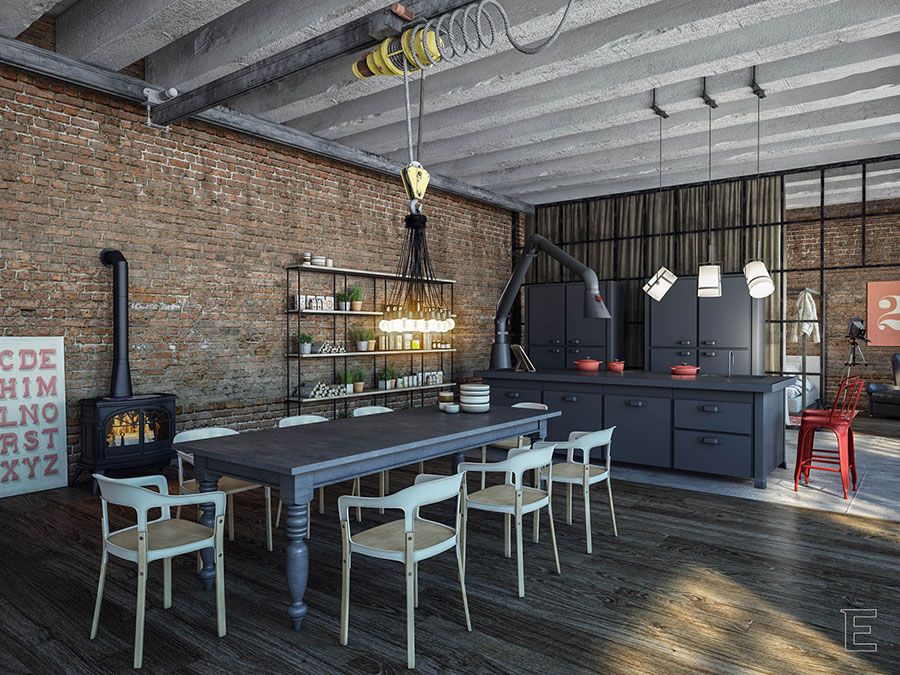 Come Arredare una Cucina Stile Industriale | MondoDesign.it