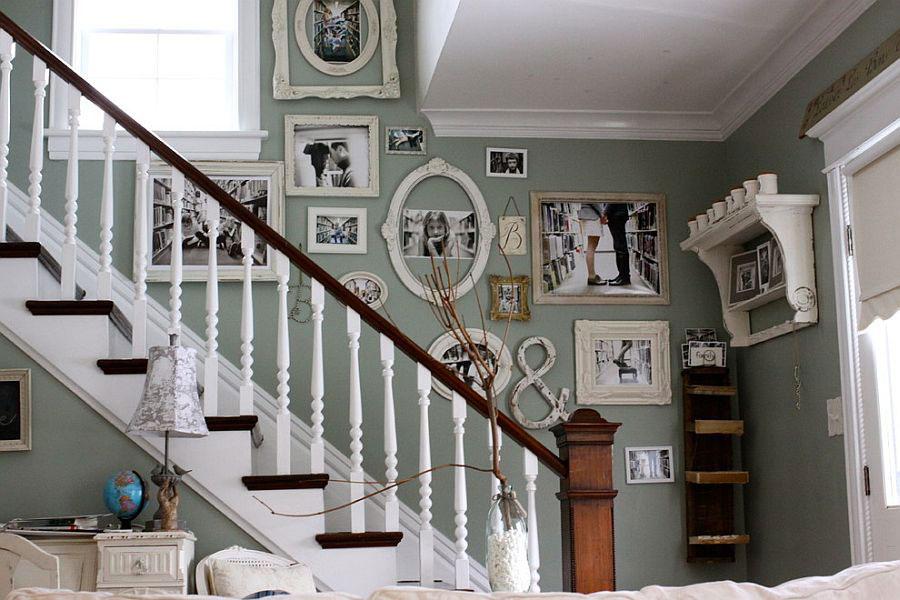 idee per dipingere le pareti in stile shabby chic con il verde 04