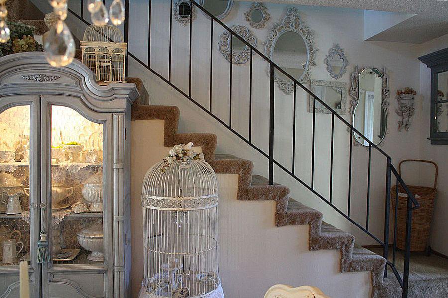 Idee per la decorazione di scale shabby chic n.04