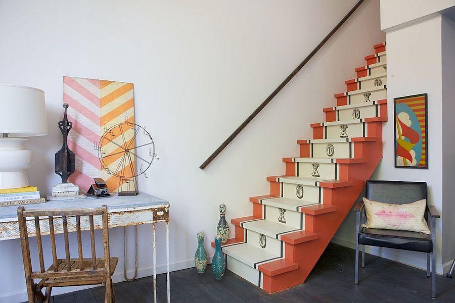 Idee per la decorazione di scale shabby chic n.05