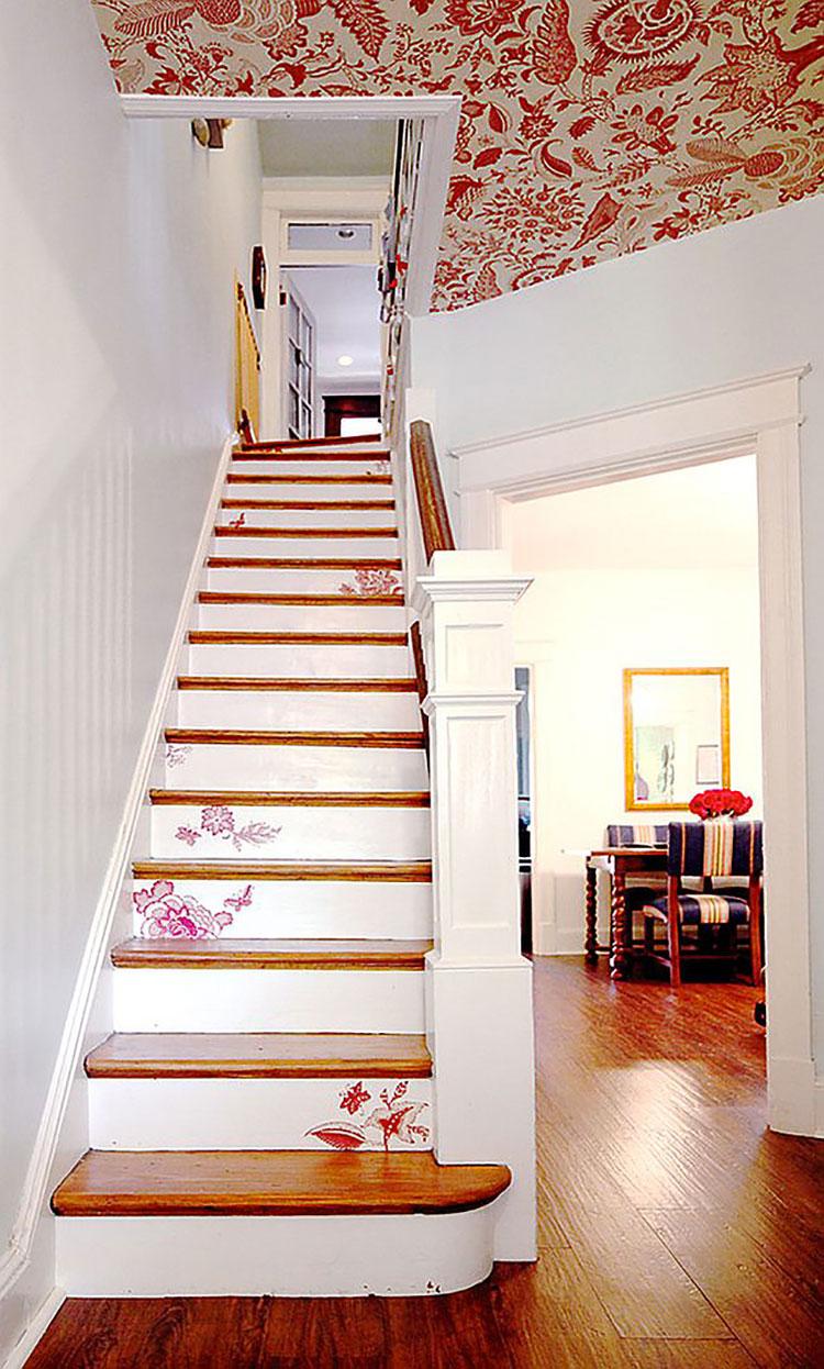 Idee per la decorazione di scale shabby chic n.06