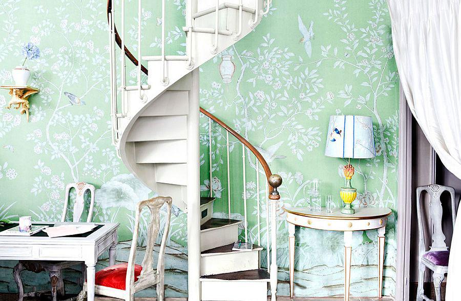 Idee per la decorazione di scale shabby chic n.08
