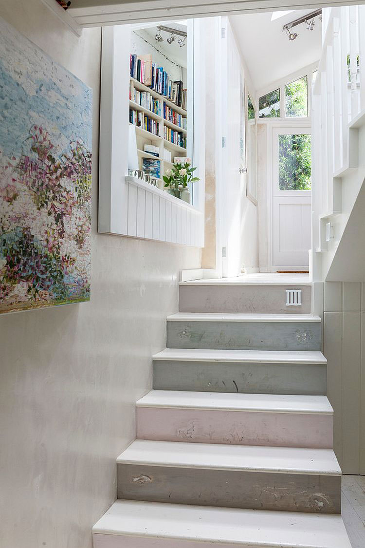 Idee per la decorazione di scale shabby chic n.10