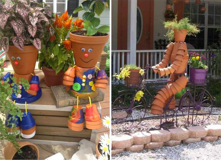 Decorare Vasi Di Terracotta.Decorazioni Da Giardino Con Vasi Di Terracotta Mondodesign It