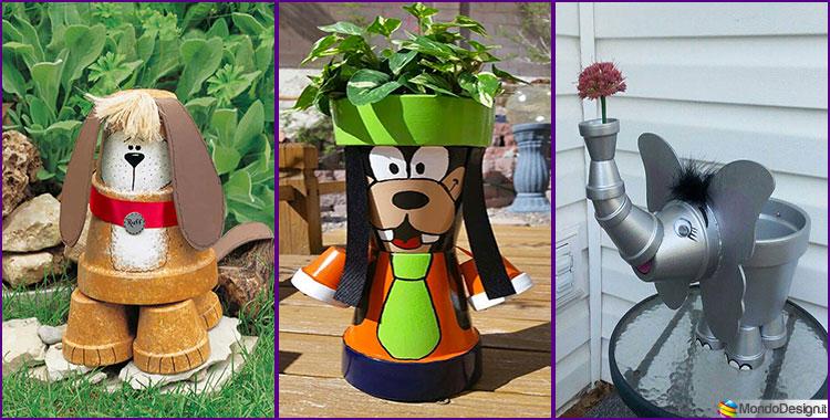 Decorazioni da Giardino con Vasi di Terracotta