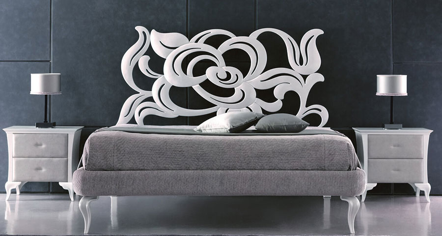 Modello di letto matrimoniale in ferro battuto moderno n.01