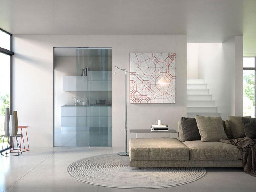 Porte scorrevoli in vetro per interni dal design moderno - Porte scorrevoli per cucina ...