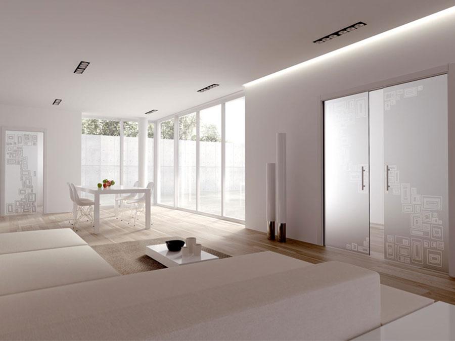 Porte scorrevoli in vetro per interni dal design moderno ...