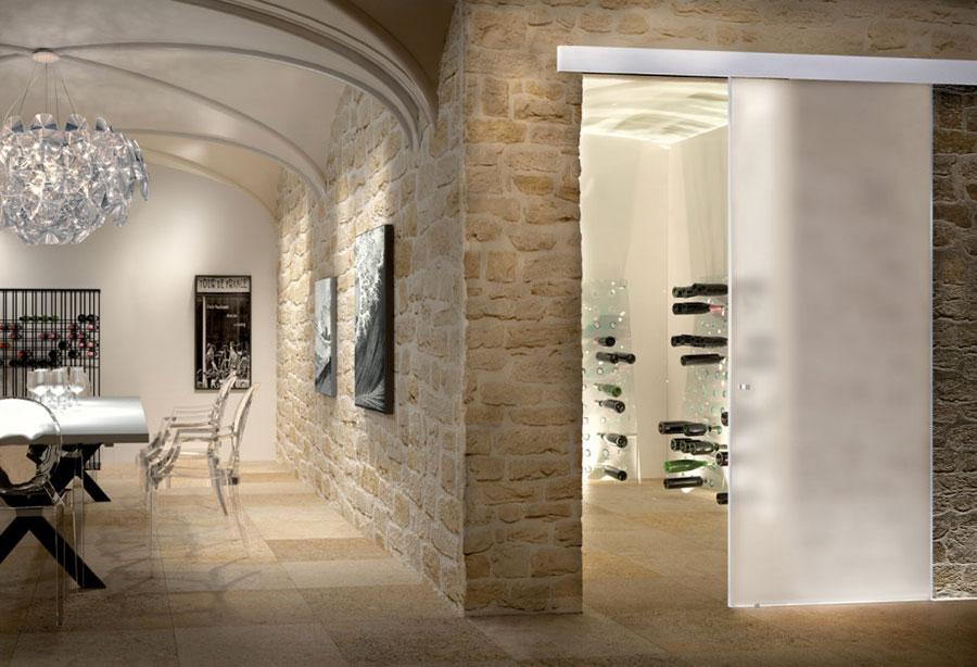 Porte scorrevoli in vetro per interni dal design moderno for Interni e design