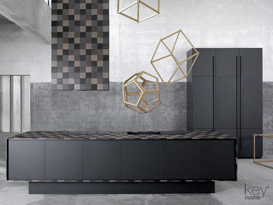 Modello di top per cucina in solid surface n.02