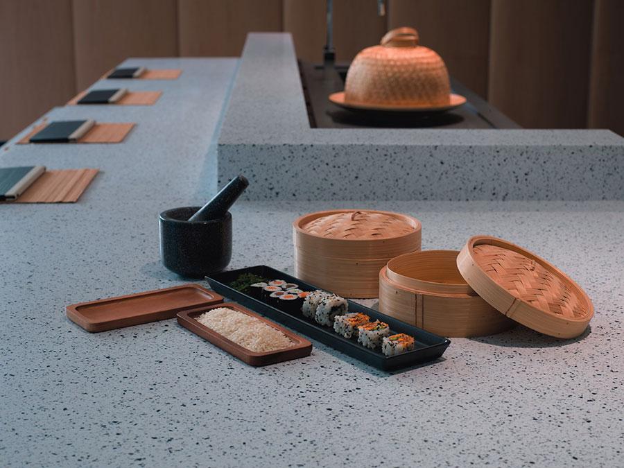 Modello di top per cucina in solid surface n.03