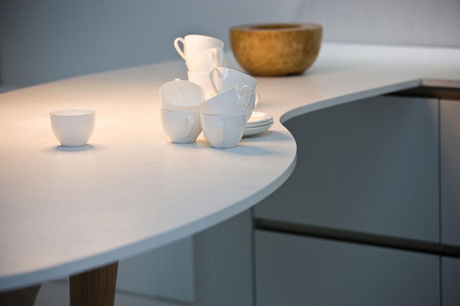 Modello di top per cucina in quarzo n.03