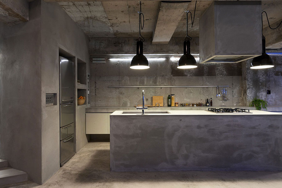 Bellissimi e particolari top per cucine in diversi materiali for Piano cucina in cemento