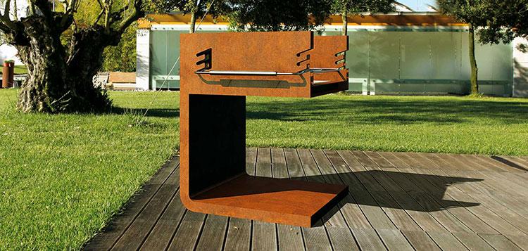 Modello di barbecue dal design moderno a legna n.01